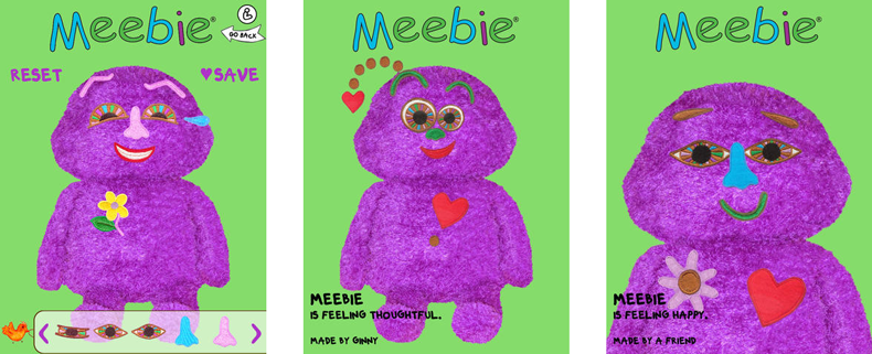 3 Meebie App screenshots